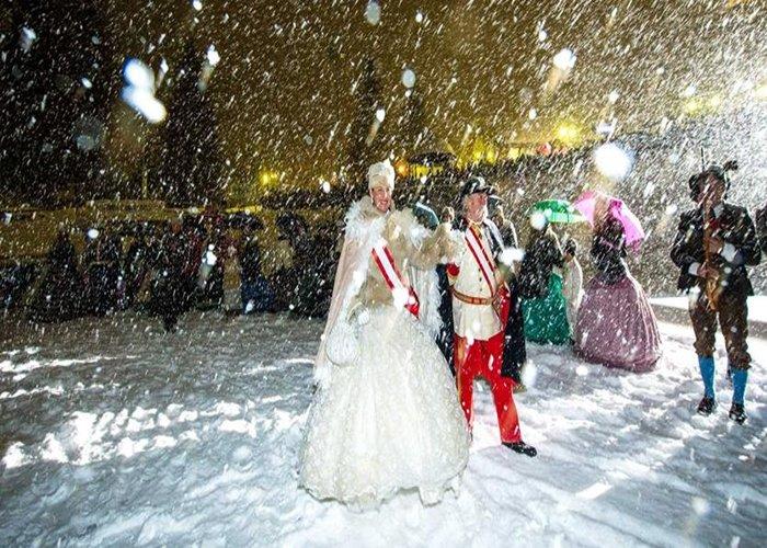 El primer evento del carnaval de Habsburgo es el desfile real que da inicio a las celebraciones