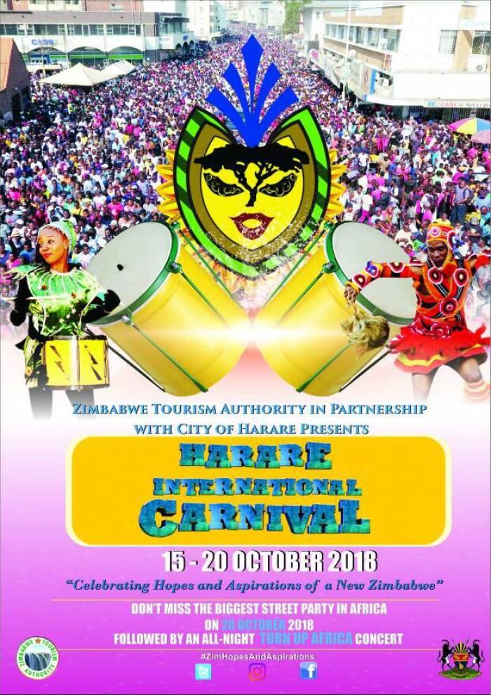 La celebración de los carnavales en Harare cuenta con una gran variedad de artistas