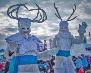 Durante Winterlude algunas personas se disfrazan como parte de presentaciones y eventos