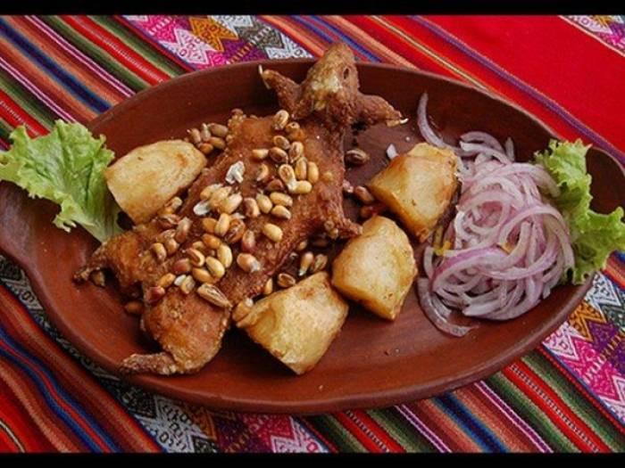 El cuy chactado es un plato típico de la región