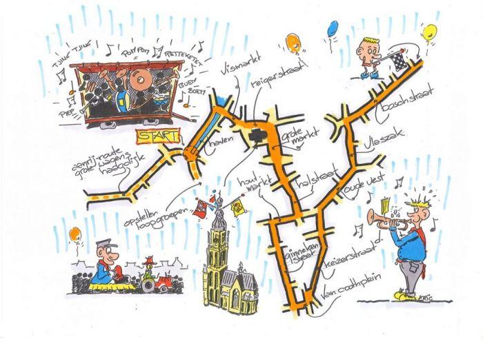 El desfile de caranval de Breda comienza en Haagdijk y termina en Boschstraat