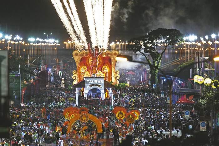 El desfile de los carnavales de Santa Cruz de la Sierra se llevan a cabo en el Cambódromo de la ciudad