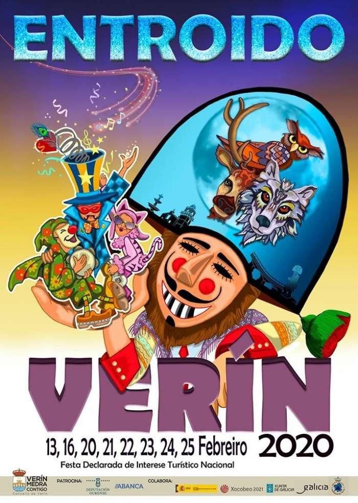 El desfile del carnaval de Verín recorre las calles con carrozas y la presencia de cigarrones