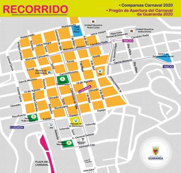El desfile principal se lleva a cabo el día lunes y recorre las principales calles de la ciudad