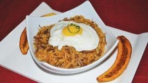 El majao es un plato tradicional con carne y arroz