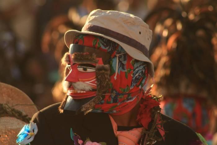 El personaje principal del carnaval de Pinotepa de Don Luis se llama Tejoron. Usan máscaras y bailan durante toda la celebración