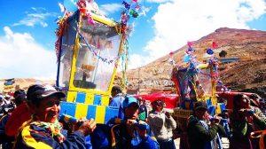 La imagen de Tata K'aicha acompaña a los mineros en el carnaval de Potosí