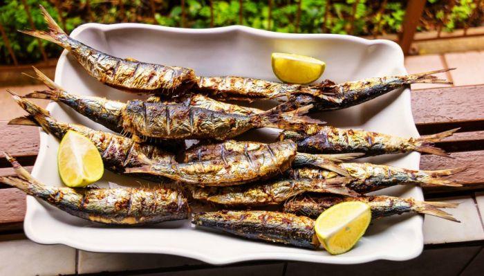 Las sardinas son comunes de consumir durante el carnaval de Badajoz, especialmente el martes de carnaval