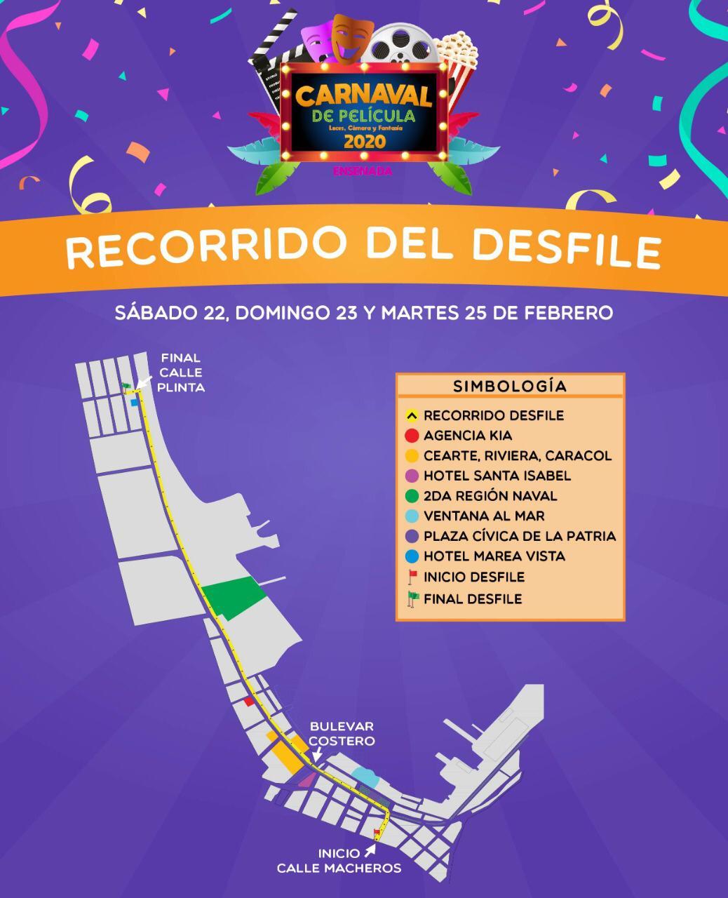 Los 3 grandes desfiles del carnaval de Ensenada salen de la calle Macheros y llegan a la calle Plinta