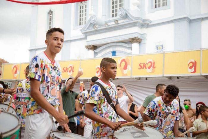 Los blocos son la atracción principal de los carnavales, recorren la ciudad de Diamantina tocando música y haciendo bailar a las personas