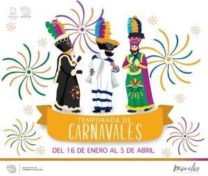 Los desfiles y actividades cambian en cada municipio durante los carnavales de Morelos, pero se mantienen las danzas de Chínelos
