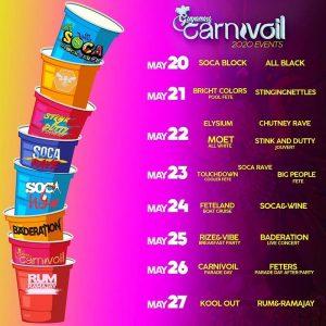 Los eventos del carnaval de Guyana cumplen con diferentes temáticas y se llevan a cabo en las calles de Georgetown