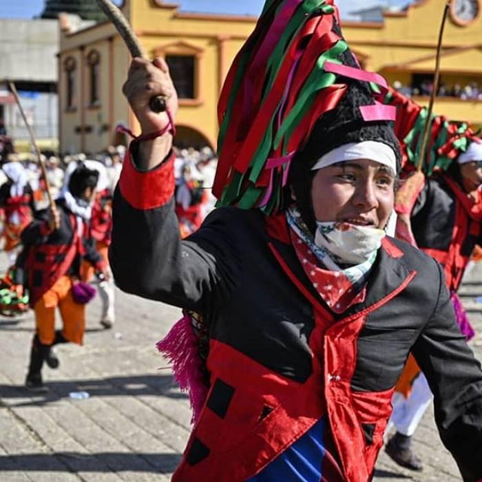 Uno de los personajes más populares del carnaval de San Juan Chamula es el Max
