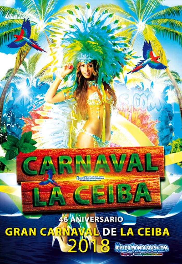 El gran desfile de los carnavales de La Ceiba toma lugar en la Avenida Principal de la ciudad