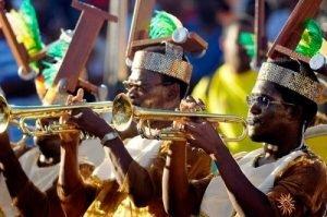 Las bandas de música son elementos importantes en el Carnaval de Guadalupe