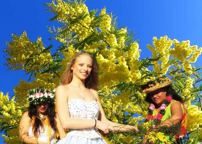 El Festival de la Mimosa es un evento que se realiza cerca de Menton