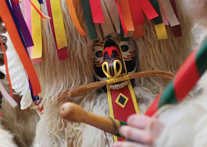 El Kurent es el Principal personaje del Carnaval de Ptuj