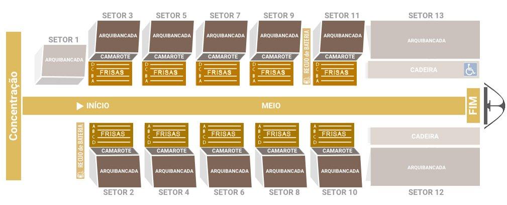 El precio de las entradas del sambódromo dependen del tipo de asiento
