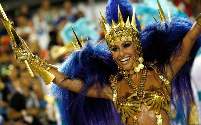 Las escuelas de samba compiten para ser las ganadoras de ese año