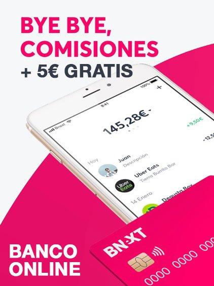 Consigue 5 € gratis al abrir tu cuenta
